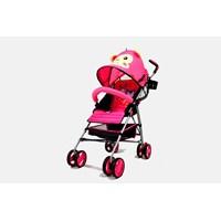 Produk dan Peralatan Bayi Kereta Dorong Stroller Baby L'abeille - Buggy Pink