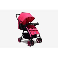 Produk dan Peralatan Bayi Kereta Dorong Stroller Baby L'abeille - Polo Pink