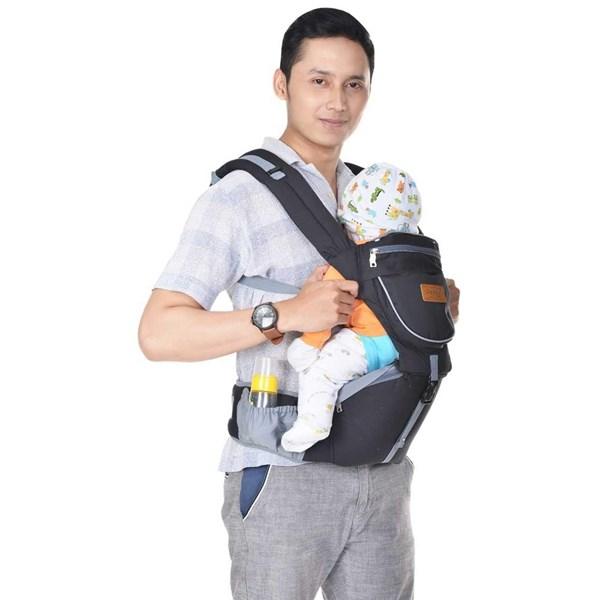 Produk dan Peralatan Bayi Gendongan Depan Hipseat Dialgue Baby - DGG 1004 Black