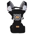 Produk dan Peralatan Bayi Gendongan Depan Hipseat Dialgue Baby - DGG 1013 Black Gray 1