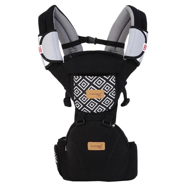 Produk dan Peralatan Bayi Gendongan Depan Hipseat Dialgue Baby - DGG 1013 Black Gray