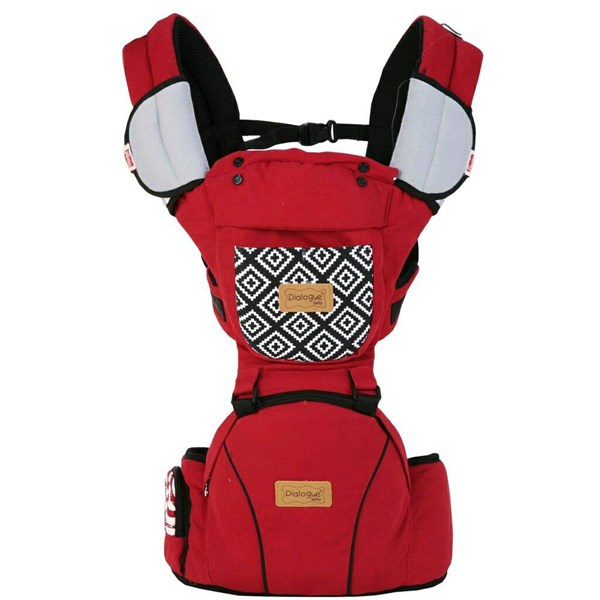 Produk dan Peralatan Bayi Gendongan Depan Hipseat Dialgue Baby - DGG 1013 Red Gray