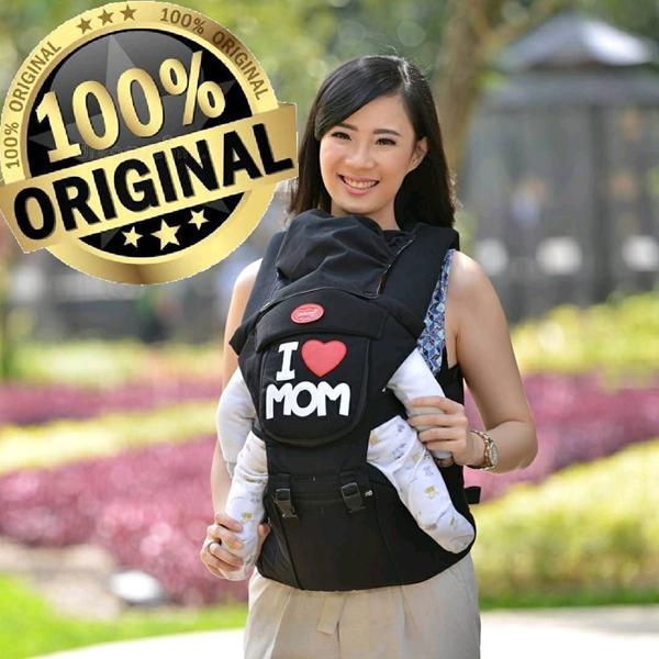 Produk dan Peralatan Bayi Gendongan Depan Hipseat Dialogue Baby - DGG 1016 Black