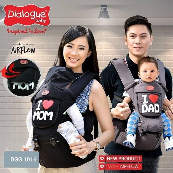 Produk dan Peralatan Bayi Gendongan Depan Hipseat Dialogue Baby - DGG 1016 Gray