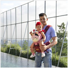 Produk dan Peralatan Bayi Gendongan Depan Hipseat Dialogue Baby - DGG 4136 Pink 1