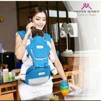 Produk dan Peralatan Bayi Gendongan Bayi Hipseat Moms Baby - MBG 2012 Blue