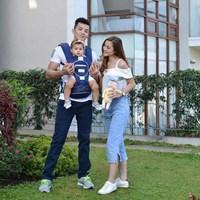Produk dan Peralatan Bayi Gendongan Bayi Hipseat Moms Baby - MBG 2014 Blue