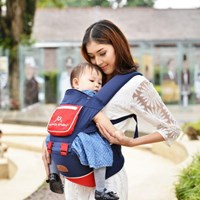 Produk dan Peralatan Bayi Gendongan Bayi Hipseat Moms Baby - MBG 2015 Blue