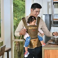 Baby Products and Equipment for Baby Carrier Hipseat Snooby Baby - TPG 1842 Brown