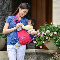 Baby Products and Equipment Sling Carrier Baby Snooby Baby - TPG 1941 Pink