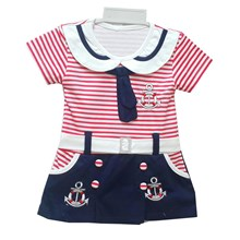 Pakaian Bayi Dress Bayi Vinata Dev Vv - Sailor Olive with Belt