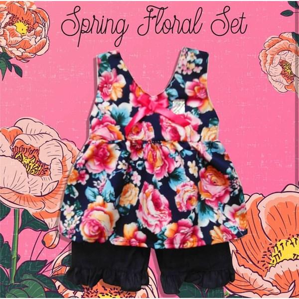 Baju Bayi Setelan Bayi Vinata Dev Vo - Spring Floral Set