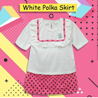 Baju Bayi Setelan Bayi Vinata Dev Vo - White Polka Skirt 2