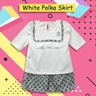 Baju Bayi Setelan Bayi Vinata Dev Vo - White Polka Skirt 1