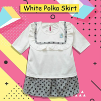 Baby Clothes Baby Suit Vinata Dev Vo - White Polka Skirt