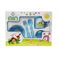 Produk dan Peralatan Bayi Feeding Set Nia Small - Blue
