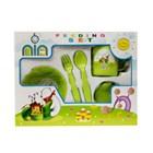 Produk dan Peralatan Bayi Feeding Set Nia Small - Green 1