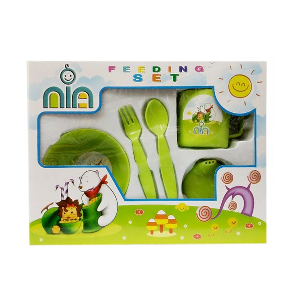 Produk dan Peralatan Bayi Feeding Set Nia Small - Green