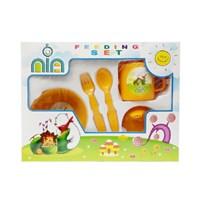 Produk dan Peralatan Bayi Feeding Set Nia Small - Orange