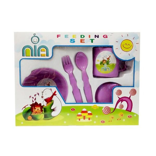 Produk dan Peralatan Bayi Feeding Set Nia Small - Purple