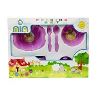Produk dan Peralatan Bayi Feeding Set Nia Medium - Purple