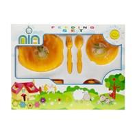 Produk dan Peralatan Bayi Feeding Set Nia Medium - Orange