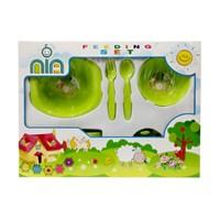 Produk dan Peralatan Bayi Feeding Set Nia Medium - Green