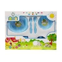 Produk dan Peralatan Bayi Feeding Set Nia Medium - Blue