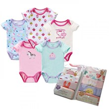 Pakaian Bayi Jumper Bayi Carter 5 in 1 Girl - New Born