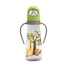 Produk dan Peralatan Bayi Botol Susu Bayi Baby Safe Feeding Bottle with Handle 250ml - Green