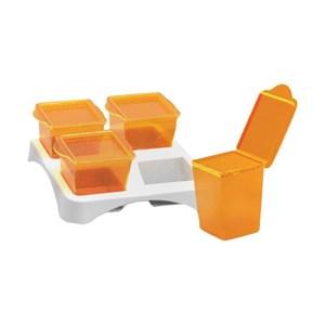 Produk dan Peralatan Bayi Container Susu Bayi Baby Safe Multi Food Container AP009 - Orange
