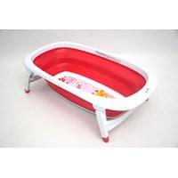 Produk dan Peralatan Bayi Bak Mandi Bayi Folding Baby Bath Labeille - Rose Red 1