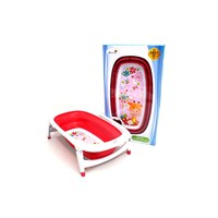 Distributor Produk dan Peralatan Bayi Bak Mandi Bayi Folding Baby Bath Labeille - Rose Red 3