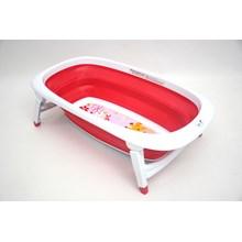 Produk dan Peralatan Bayi Bak Mandi Bayi Folding Baby Bath Labeille - Rose Red
