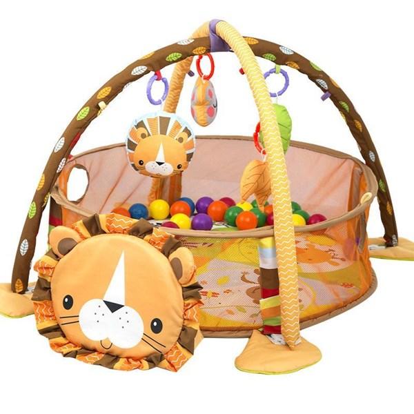 Produk dan Peralatan Bayi Babyelle Lion 3In1 Activity Playgym wit Ball Pit - Orange