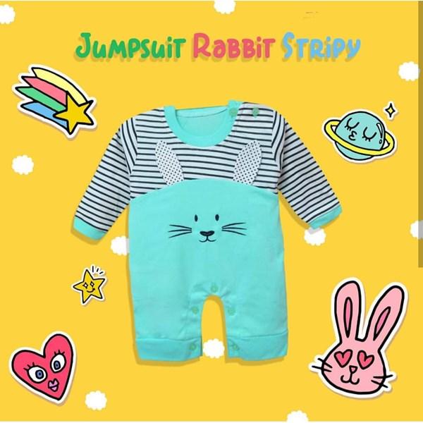 Baju Bayi Setelan Bayi Vinata Dev Eu - Jumpsuit Rabbit Stripy