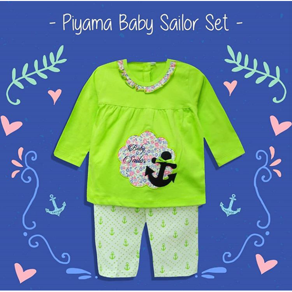 Pakaian Bayi Piyama Bayi Vinata Vo - Sailor Set