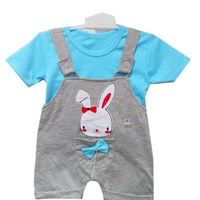 Clothes Baby Dress Vinata Baby Ve  - Overall Bunny With Ribbon