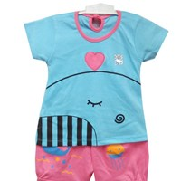 Baju Bayi Setelan Bayi Vinata Ve - Baby Shark Lovely Set