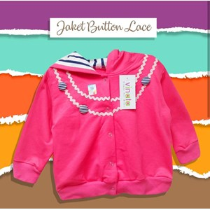 Pakaian Bayi Jaket Bayi Vinata Is - Button Lace