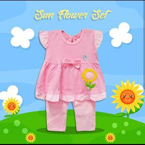 Baby Clothes Suits Vinata Baby Vo - Sun Flower Set