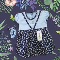 Jual Pakaian Bayi Dress Bayi Vinata Ve - White Flowers