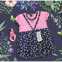 Pakaian Bayi Dress Bayi Vinata Ve - White Flowers