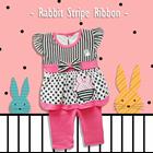 Pakaian Bayi Setelan Bayi Cewe Vinata Vo - Rabbit Stripe Ribbon 3