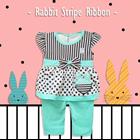 Pakaian Bayi Setelan Bayi Cewe Vinata Vo - Rabbit Stripe Ribbon 2