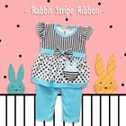 Pakaian Bayi Setelan Bayi Cewe Vinata Vo - Rabbit Stripe Ribbon 1
