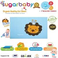 Perawatan Bayi Sugar Baby - Premium Organic Rubber Cot Sheet ( Perlak Ondo ) BLUE KING