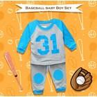 Baju Bayi Setelan Bayi Cowo Vinata Vo - Baseball Baby Boy Set 3