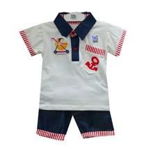 Baju Bayi Setelan Bayi Cowo Vinata Ve - Denim Anchor Set