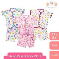 Pakain Bayi Baju Bayi Libby Pendek